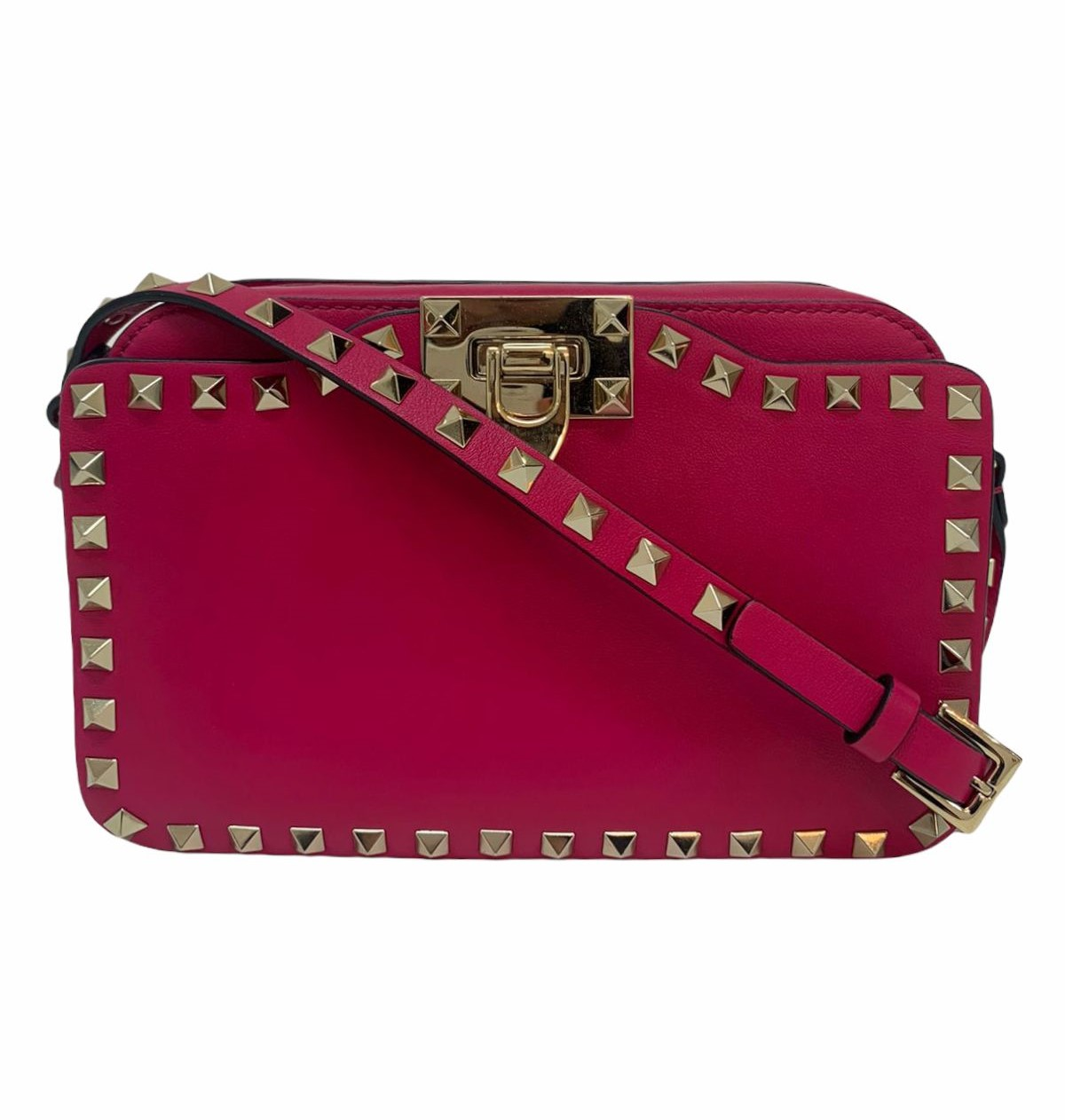 Bolsa Valentino Rockstud Crossbody Pink