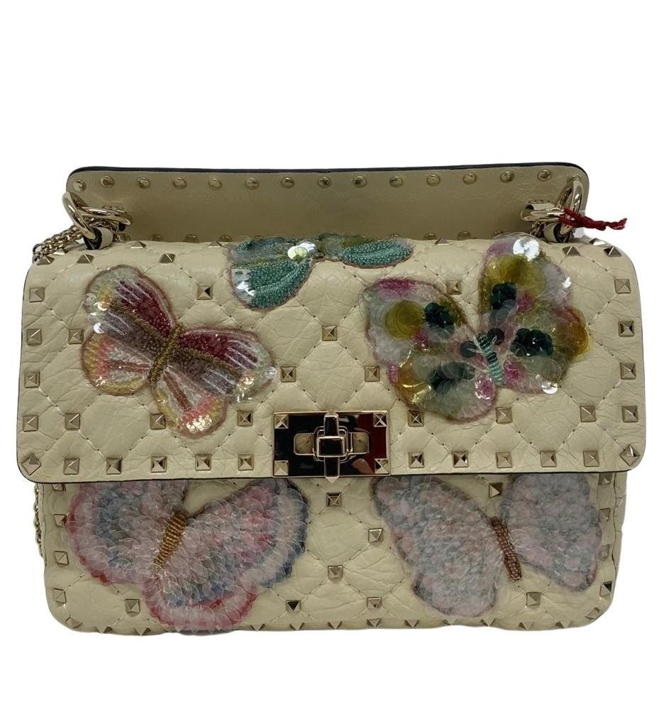 Bolsa Valentino Rockstud Spike Butterfly Embellished
