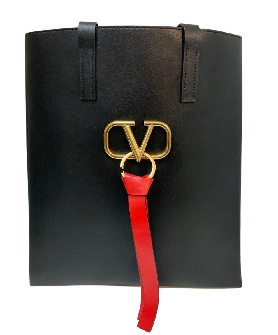 Bolsa Valentino Vring Shopping Preta