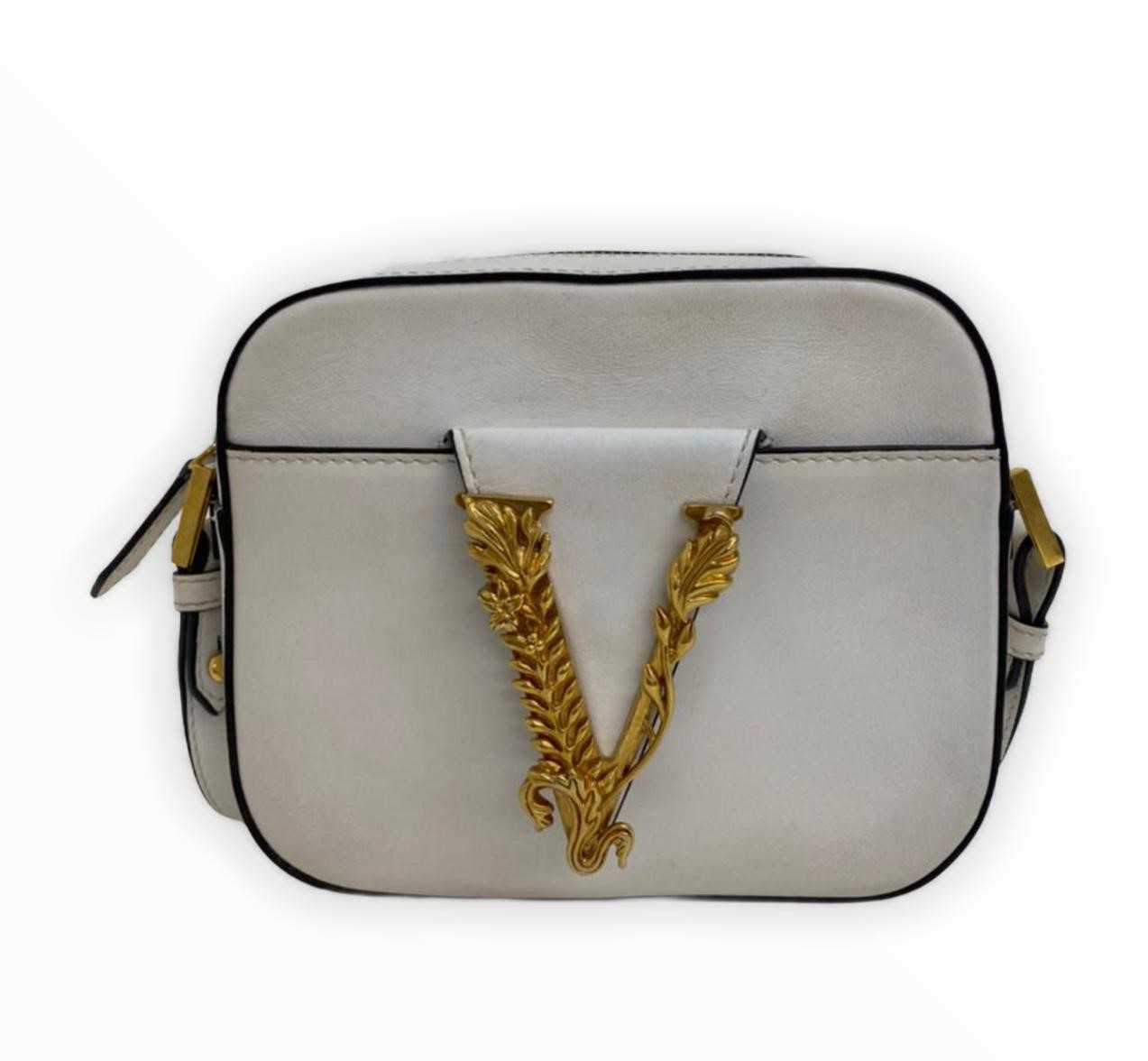 Bolsa Versace Virtus Camera Crossbody