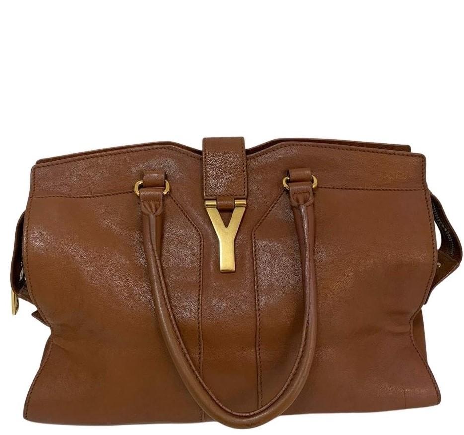 Bolsa Yves Saint Laurent Cabas Chyc Caramelo