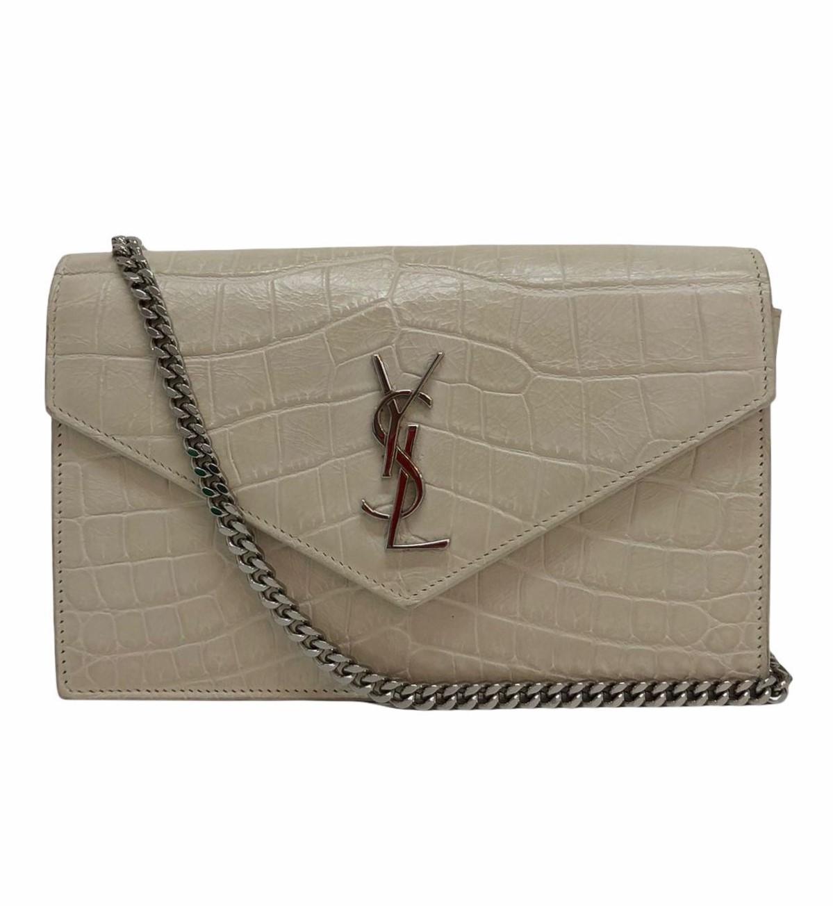 Bolsa Yves Saint Laurent Chain Wallet Crocodile