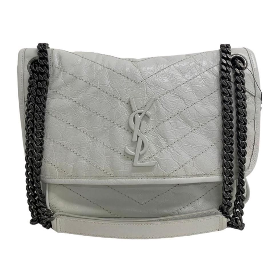 Bolsa Yves Saint Laurent Niki Branca