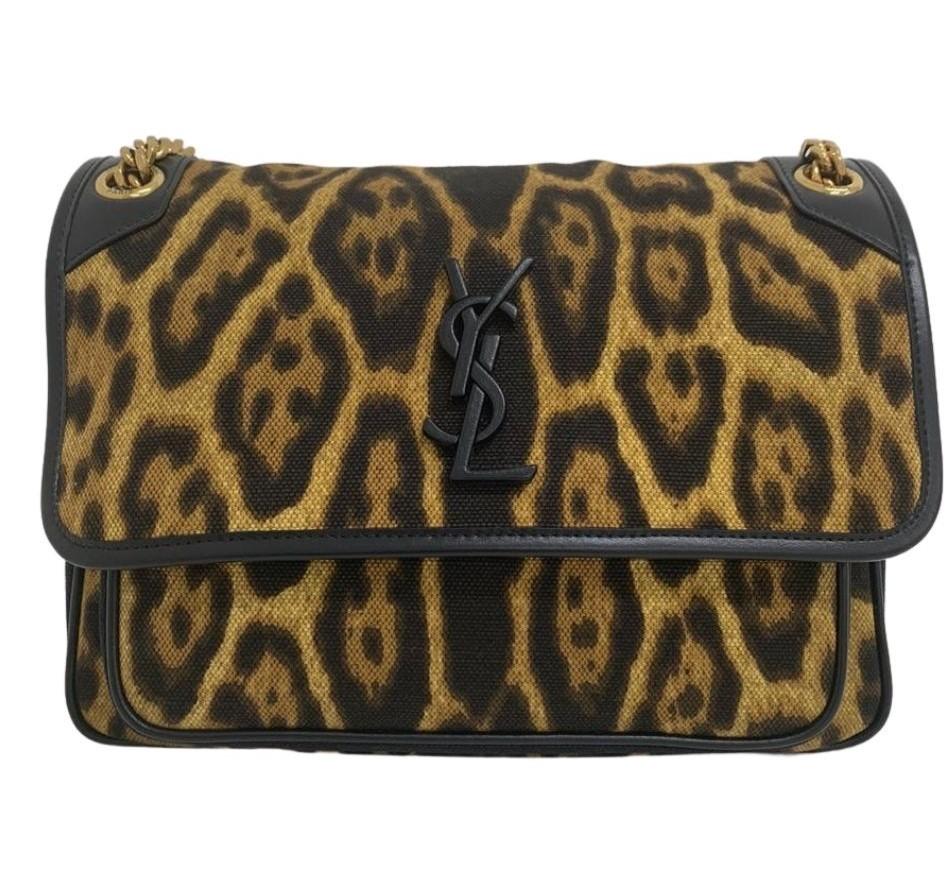 Bolsa Yves Saint Laurent Niki Leopard
