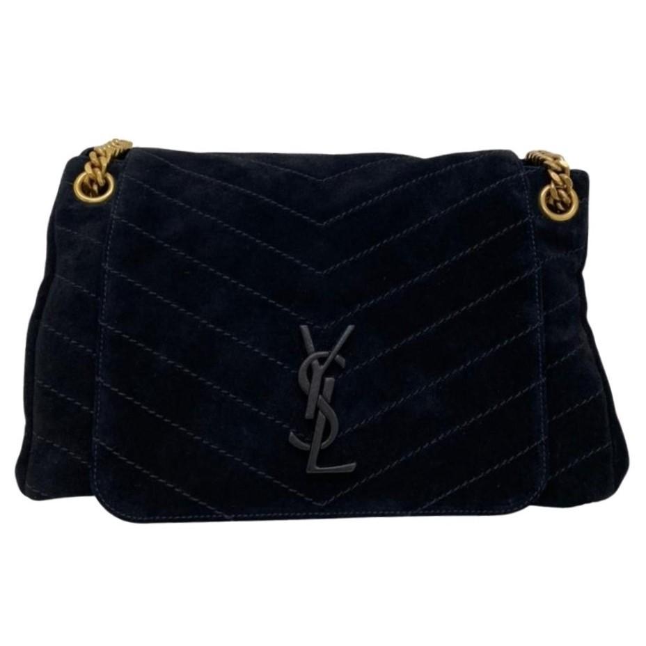 Bolsa Yves Saint Laurent Nolita Suede Preta