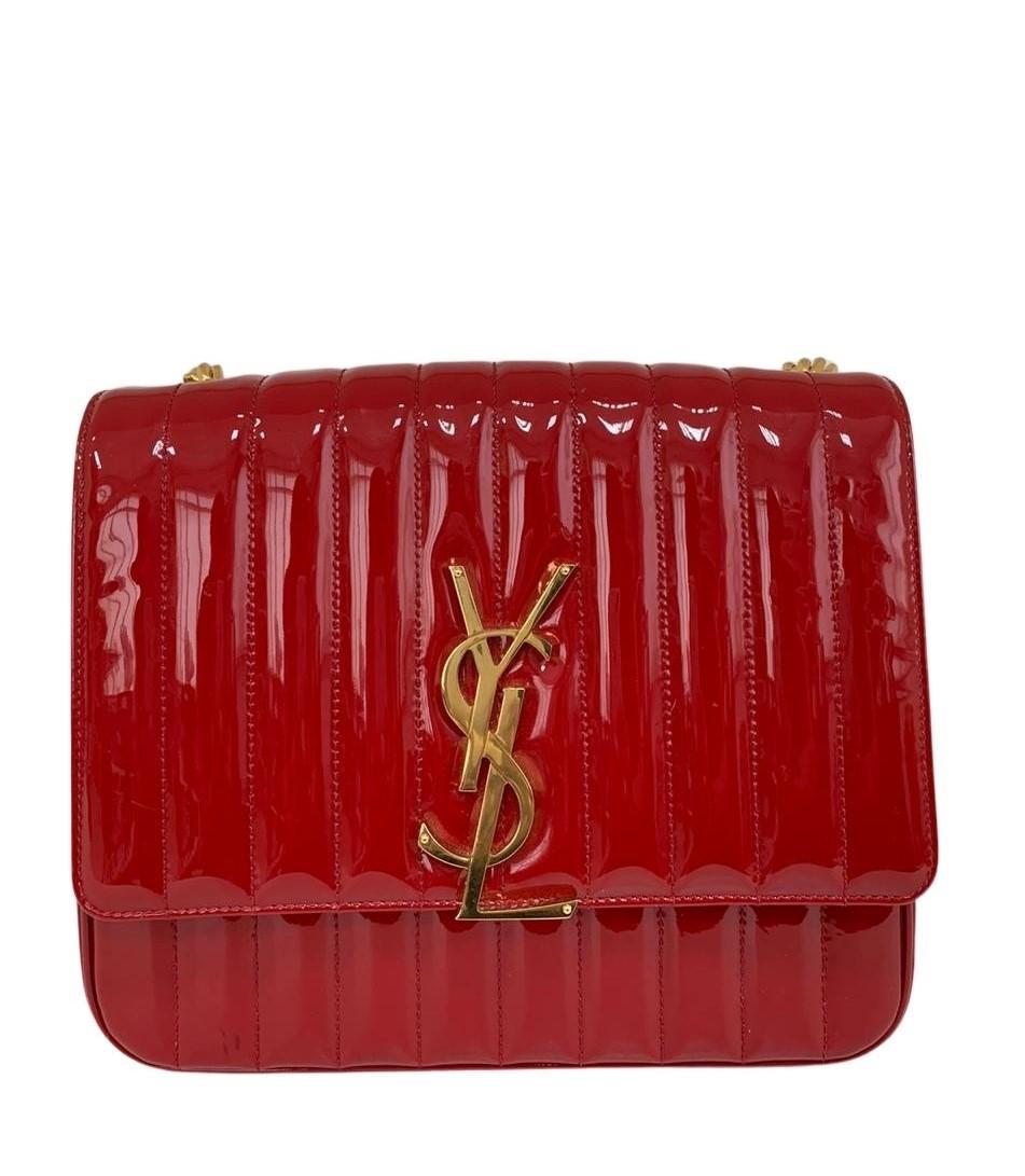 Bolsa Yves Saint Laurent Vicky Vermelha