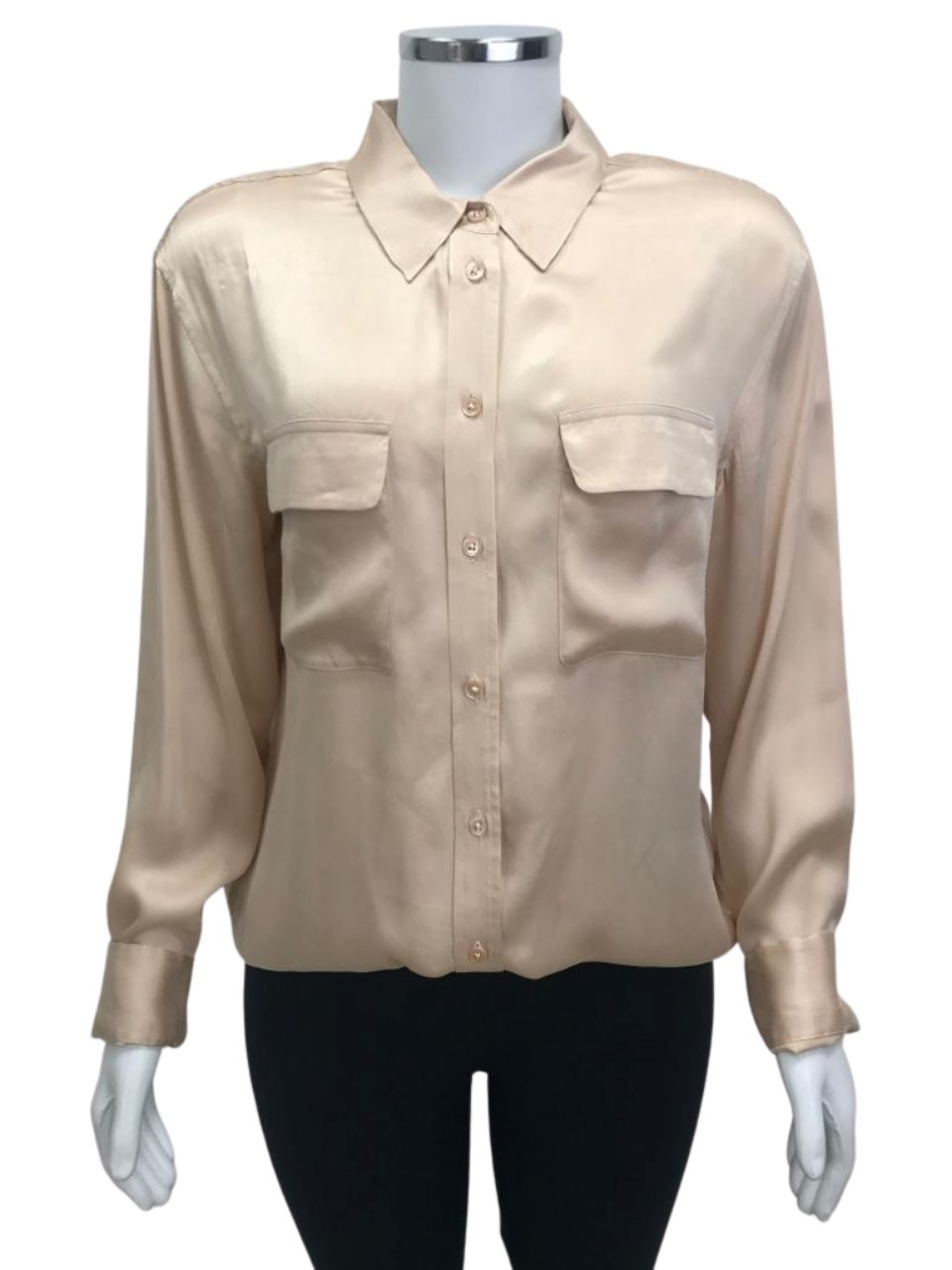 Camisa Equipment De Seda Bege