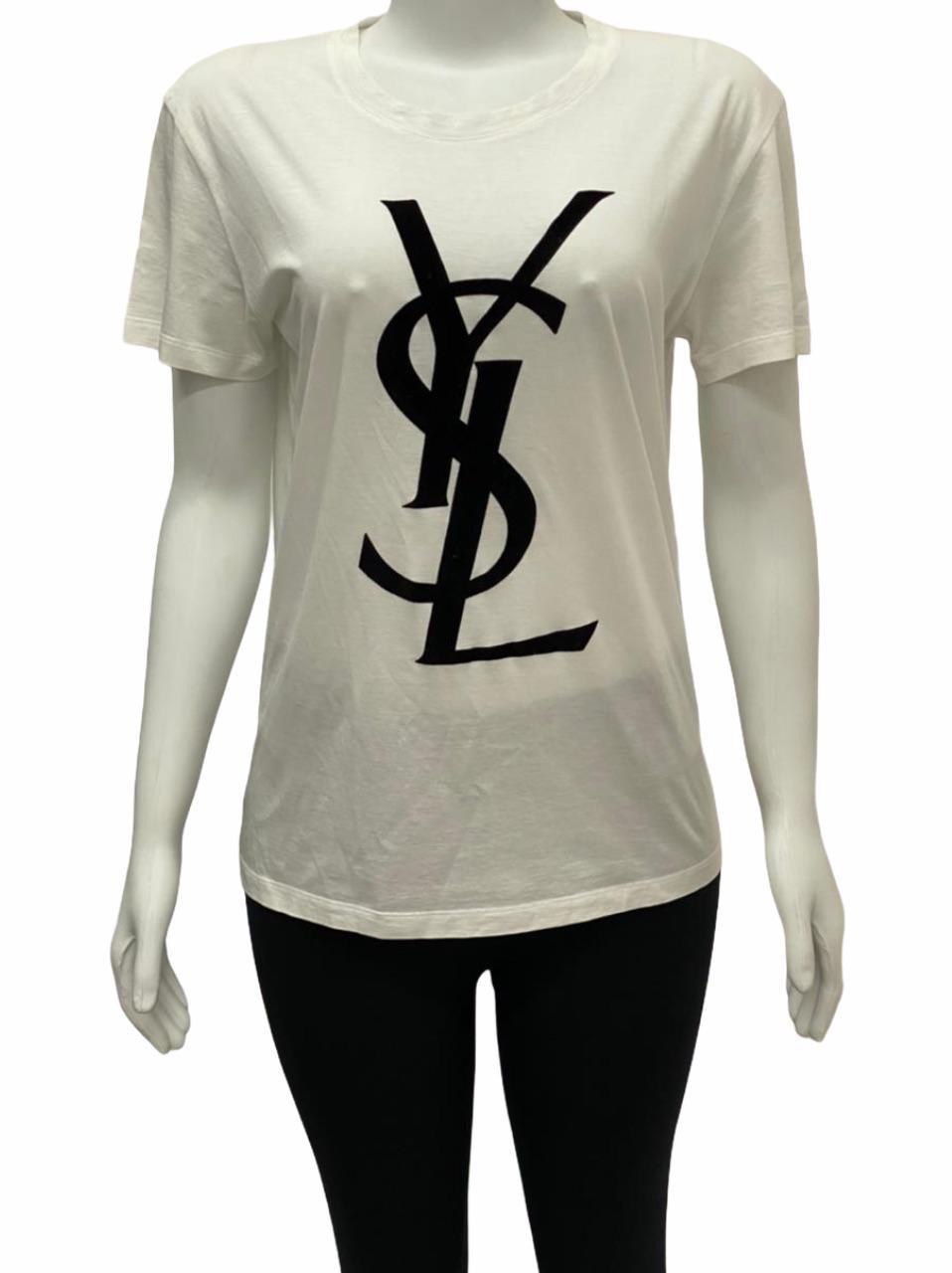 Camiseta Yves Saint Laurent Branca Logo