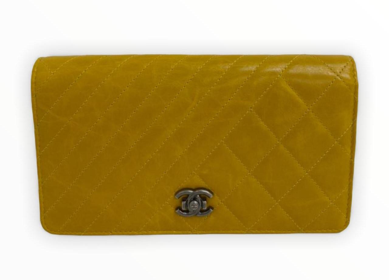 Carteira Chanel Amarela