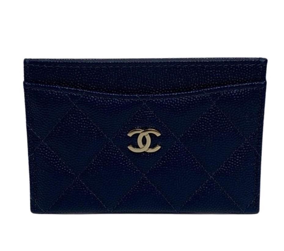Carteira Chanel Azul Marinho