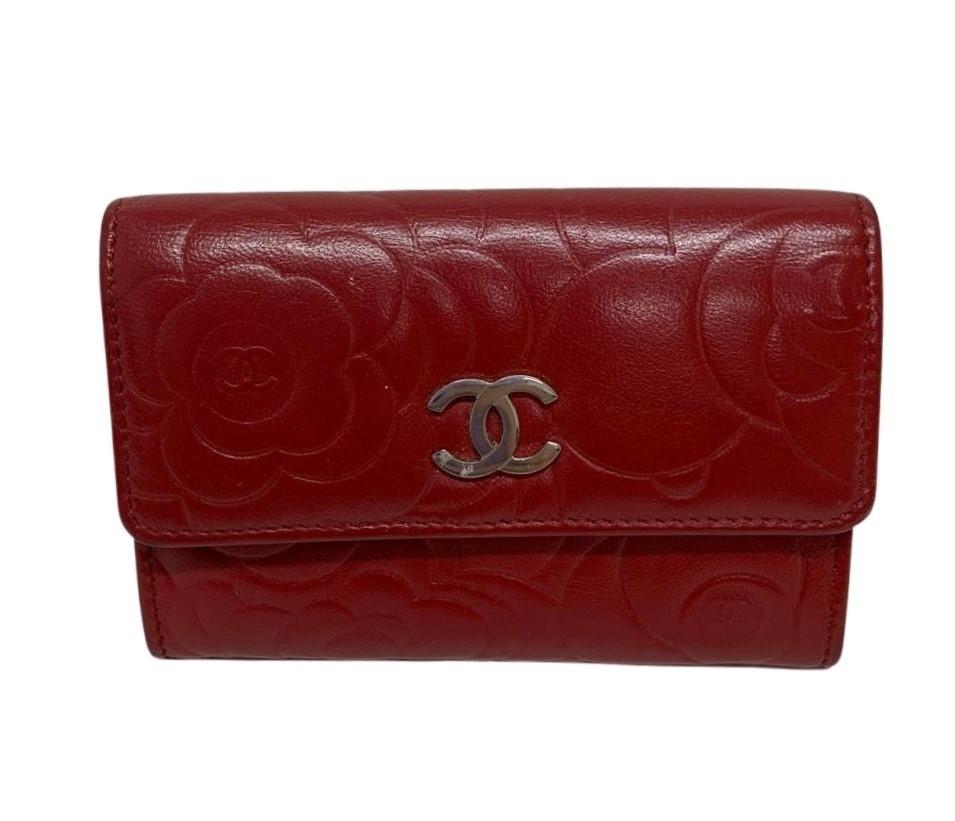 Carteira Chanel Camélia Vermelha