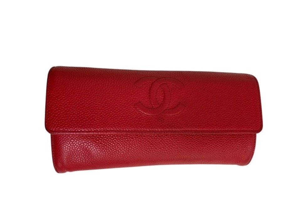 Carteira Chanel Long Wallet Vermelha