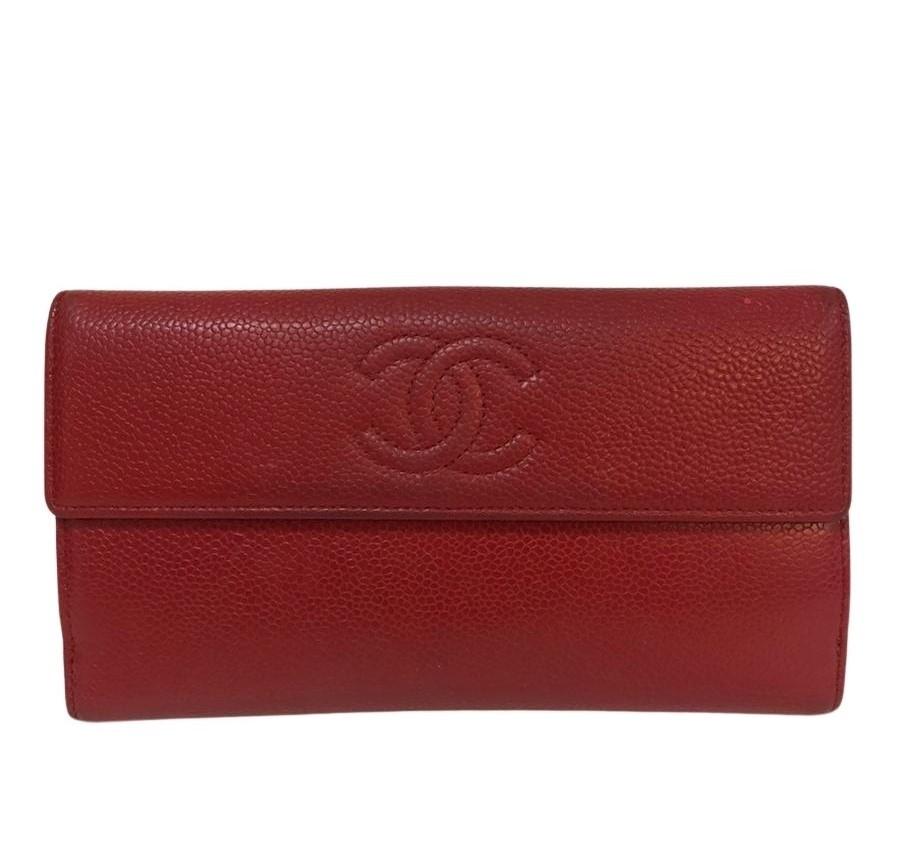 Carteira Chanel Long Wallet Vermelha