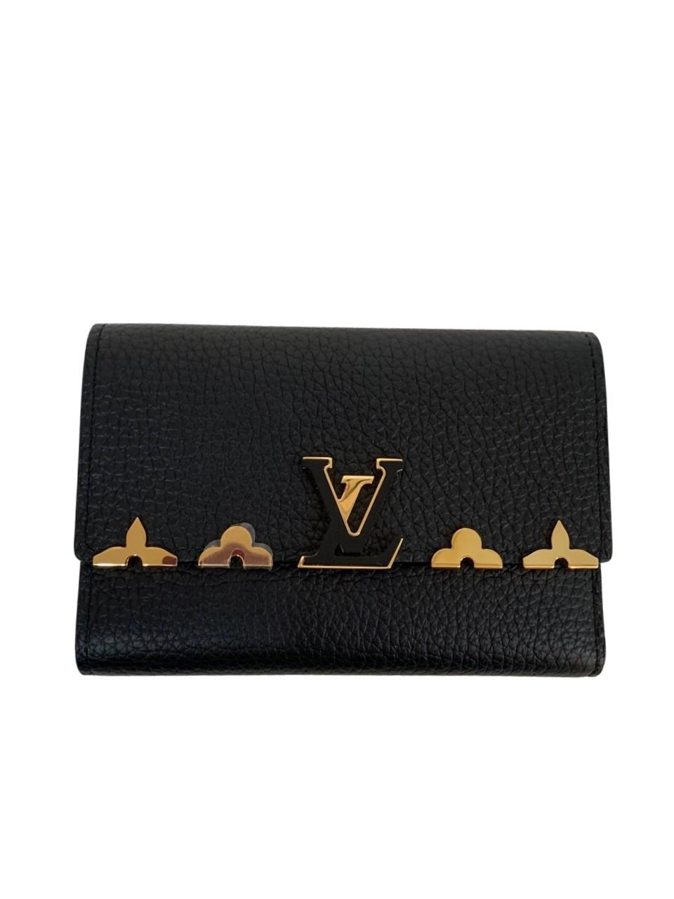 Carteira Louis Vuitton Capucines Compact Preta