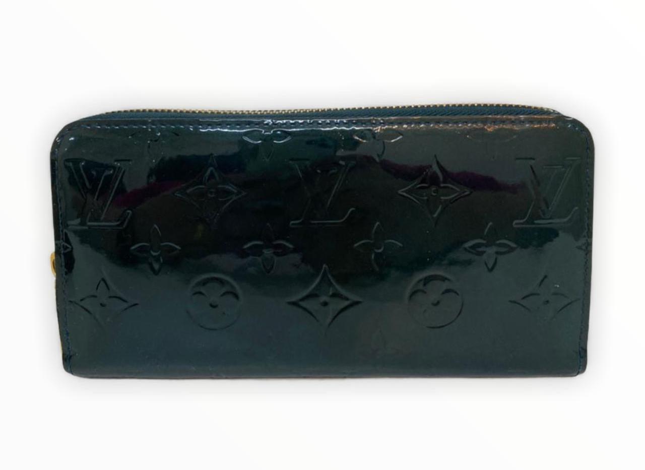 Carteira Louis Vuitton Zippy Around Vernis Verde Musgo