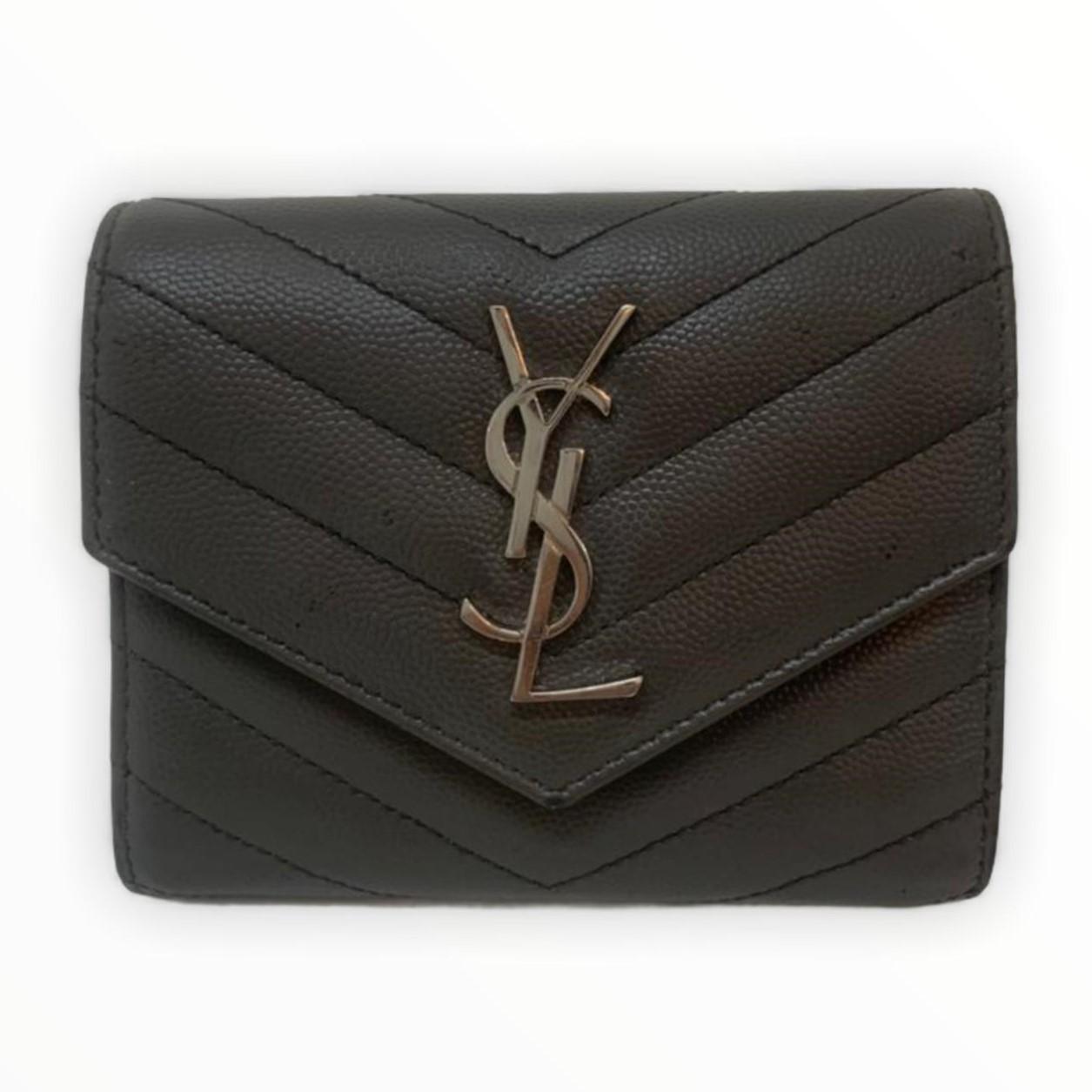 Carteira Yves Saint Laurent Envelope Cinza