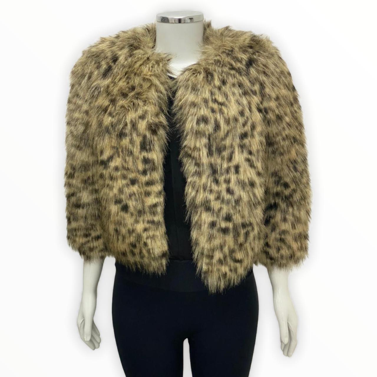 Casaco Michael Kors Faux Cheetah Fur