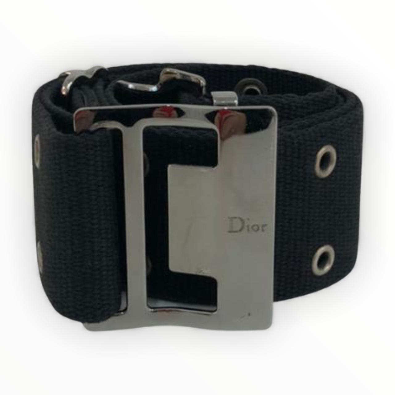 Cinto Dior Preto Tecido