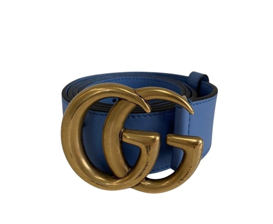 Cinto Gucci Azul