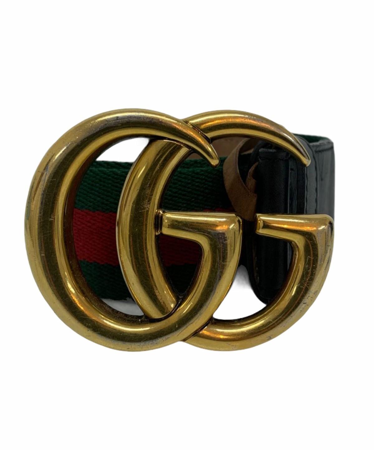 Cinto Gucci GG Marmont Web Bicolor