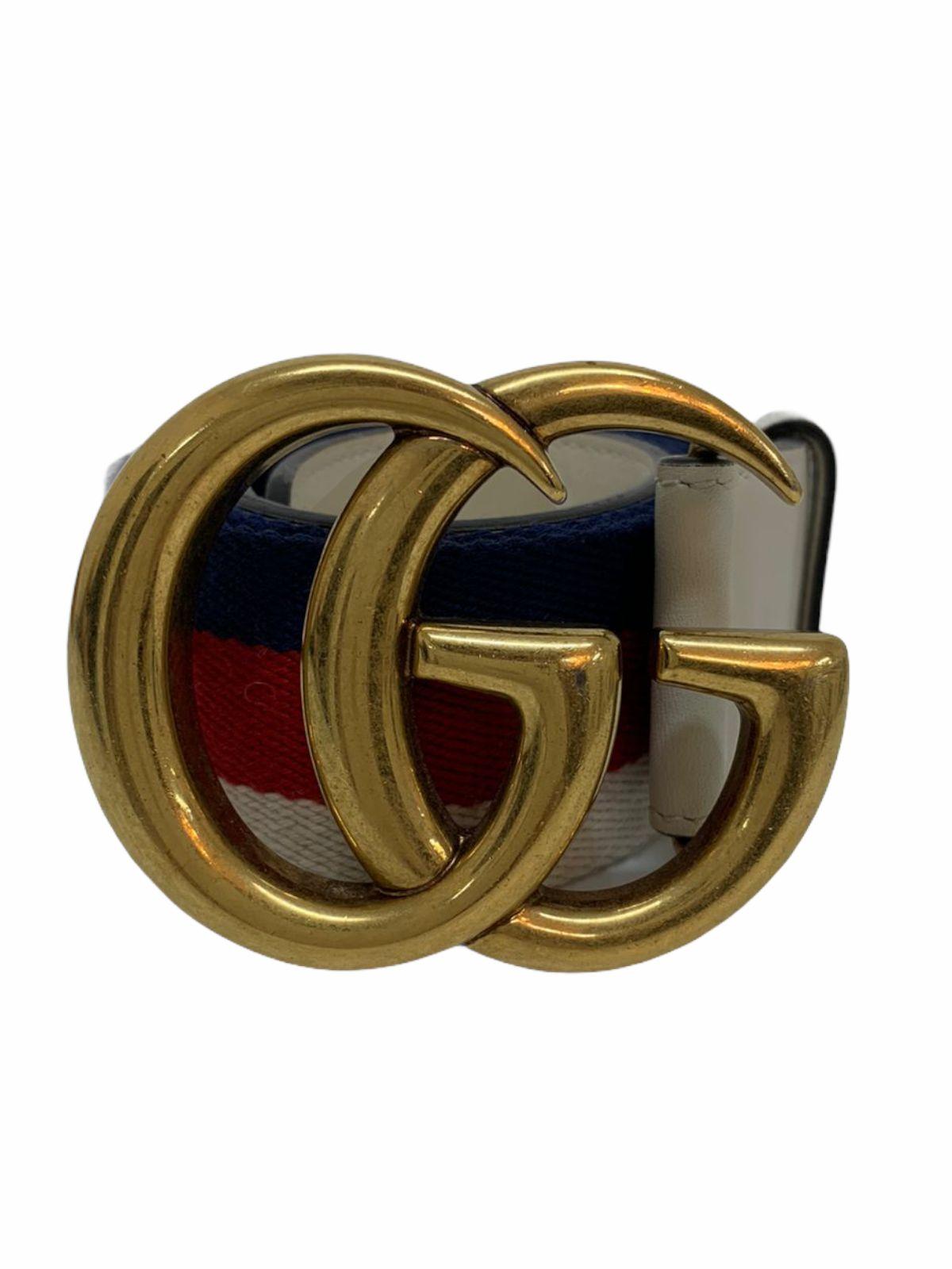 Cinto Gucci GG Marmont Web Multicolor
