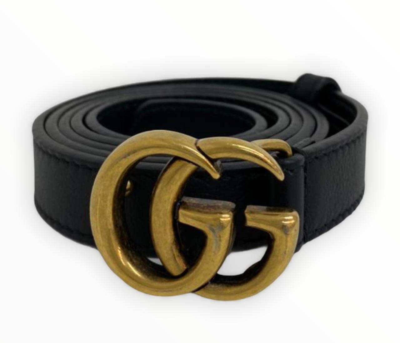 Cinto Gucci GG Preto