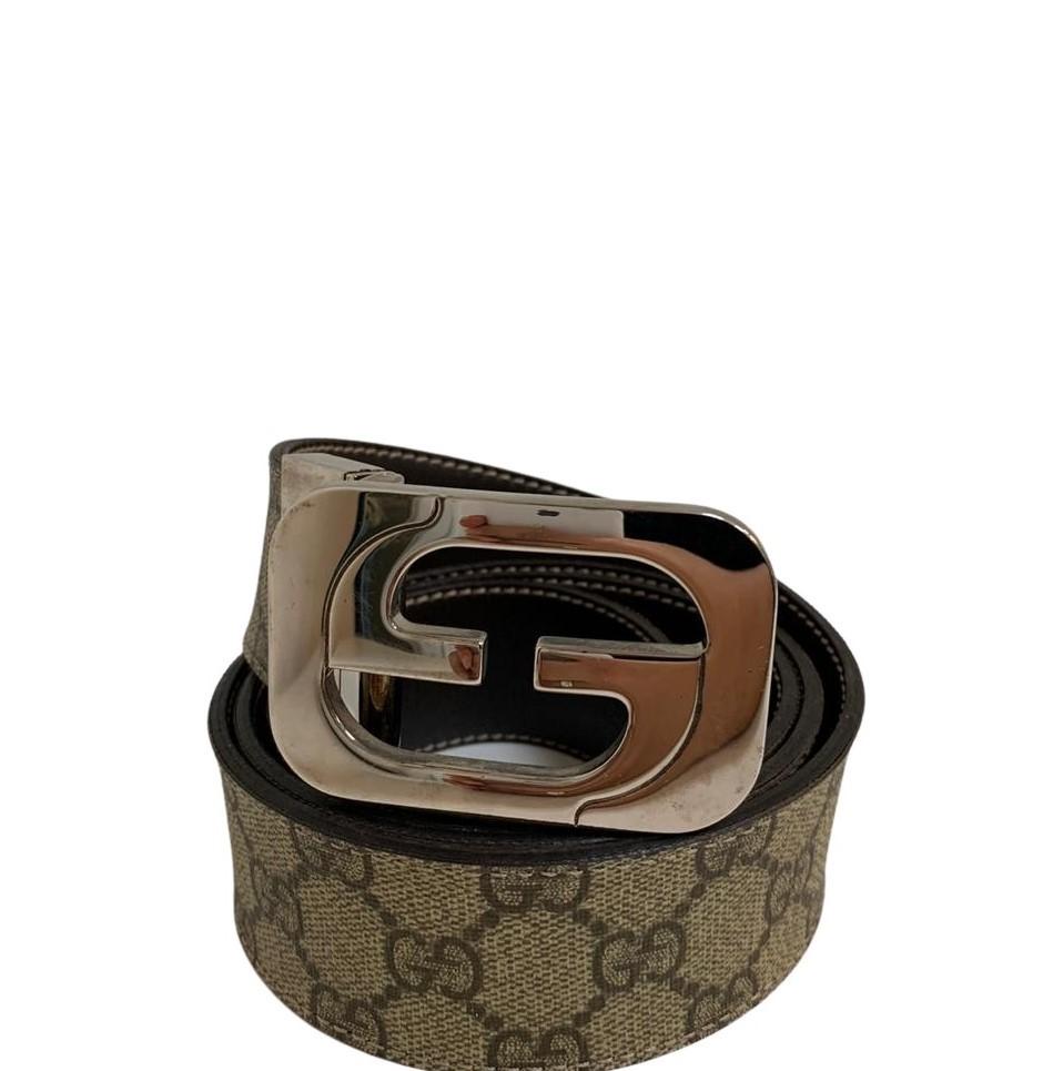 Cinto Gucci Monogram Bege