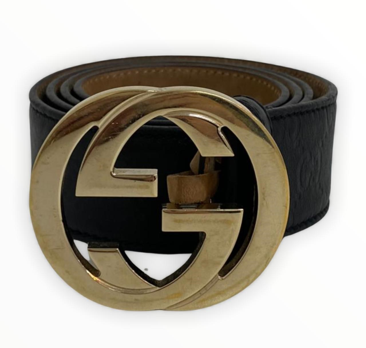 Cinto Gucci With G Buckle
