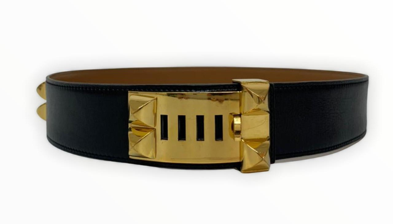 Cinto Hermès Preto