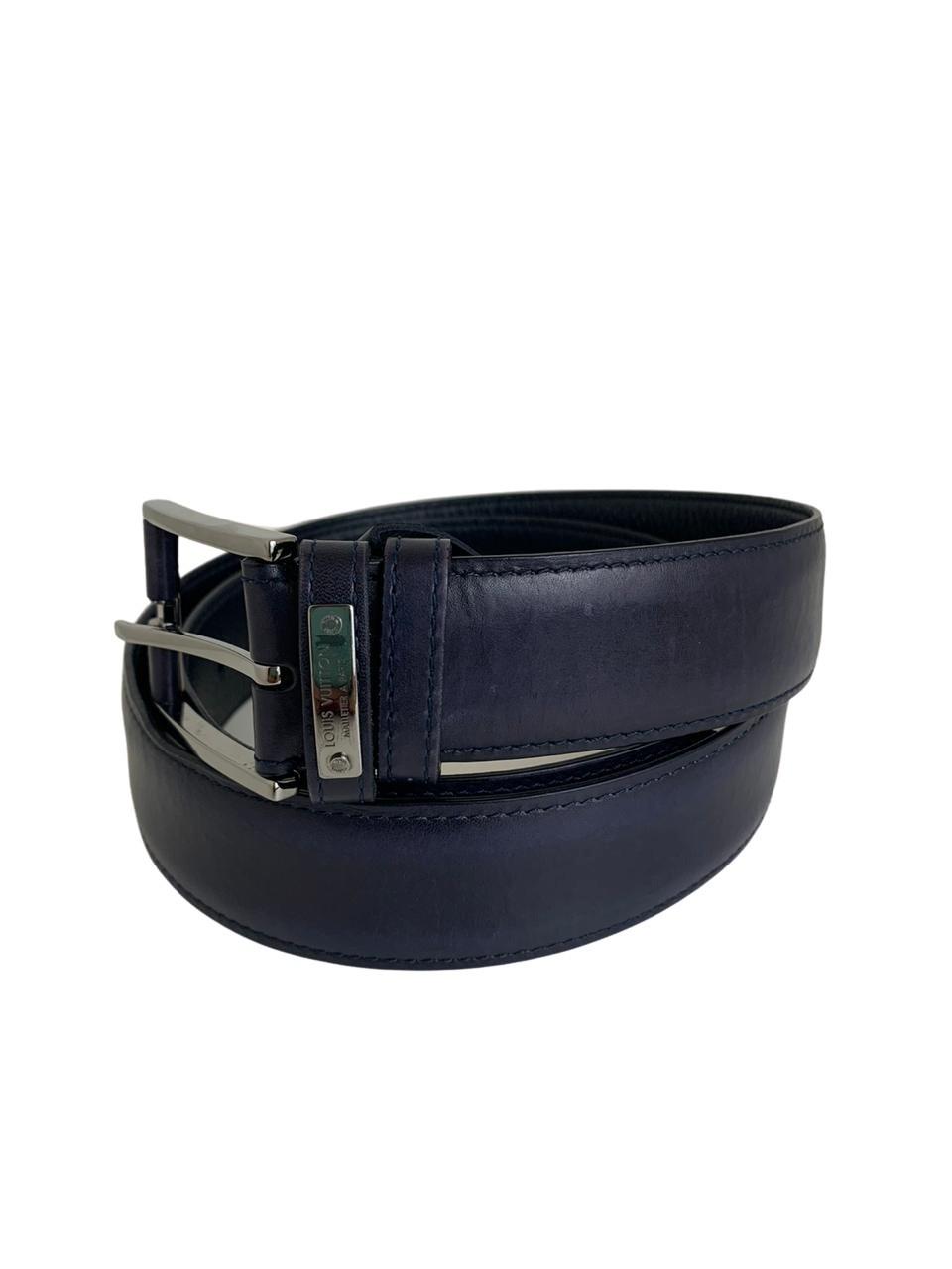 Cinto Louis Vuitton Azul Escuro