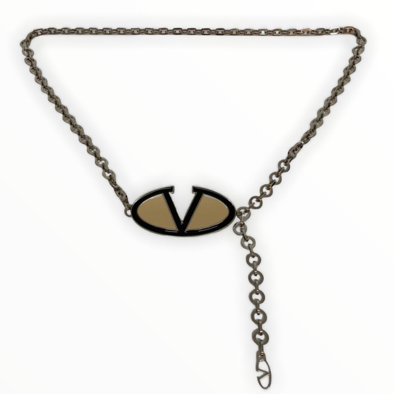 Cinto Valentino Logo Chain