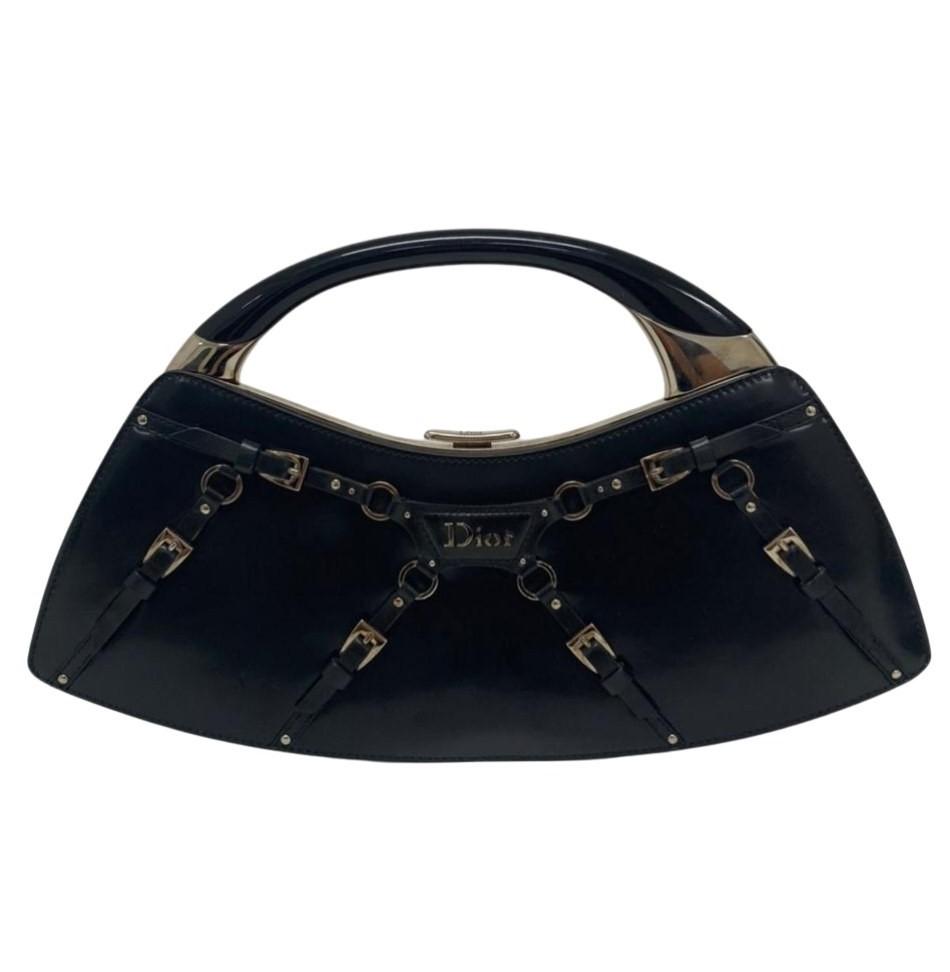 Clutch Dior Buckle Preta