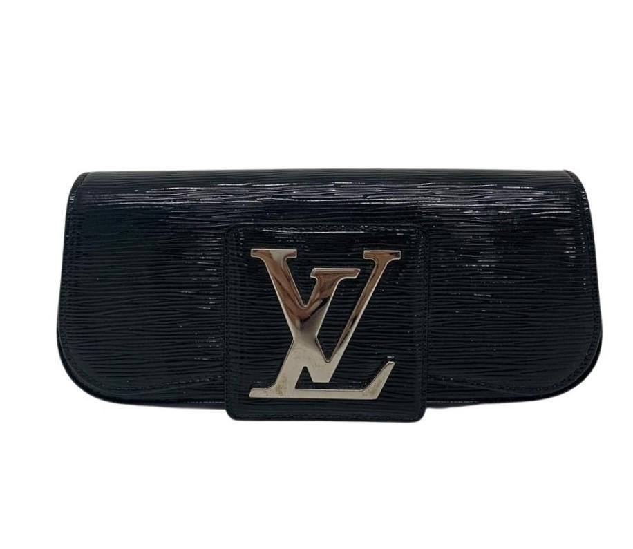 Clutch Louis Vuitton Epi Eletric Sobe Preta