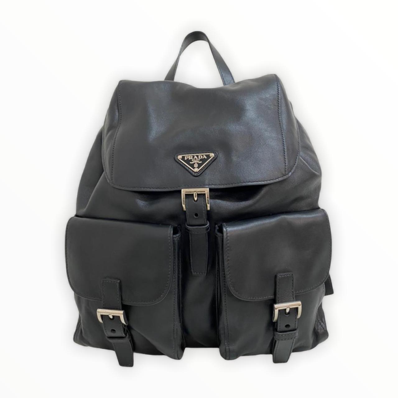 Mochila Prada Leather Preta