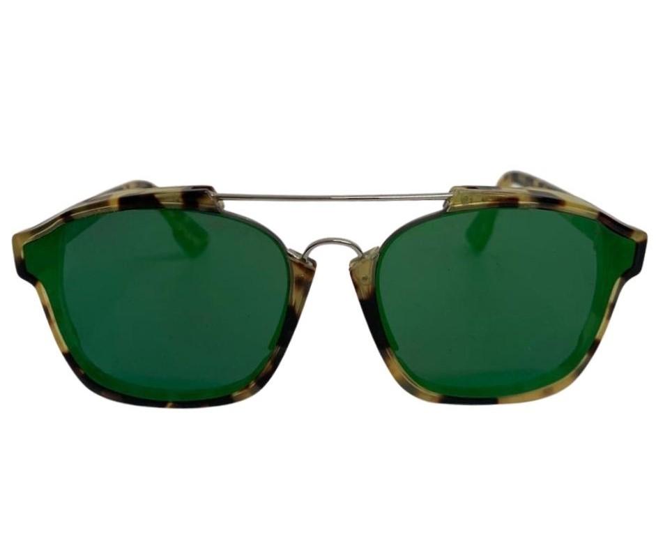 Óculos Dior Lente Verde com Haste Animal Print