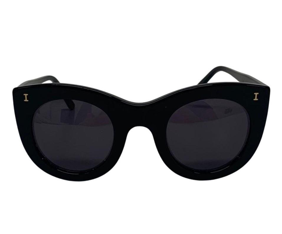 Óculos Illesteva 'Cat Eye' Preto