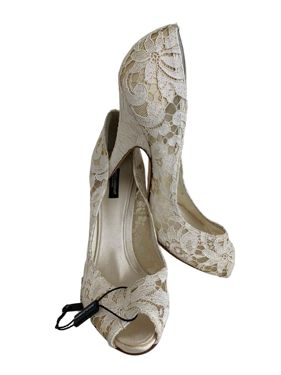 Peep Toe Dolce & Gabbana de Renda