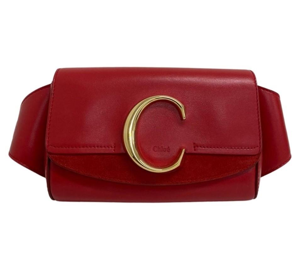 Pochete Chloé C Belt Vermelha