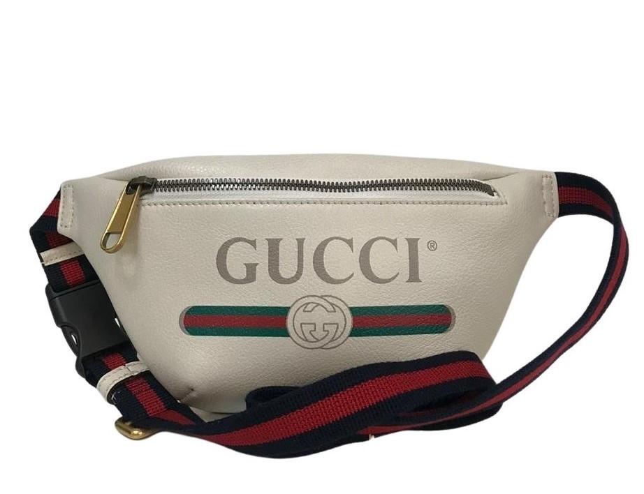 Pochete Gucci Print Branca