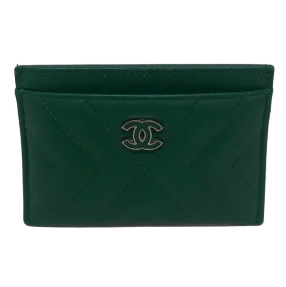 Porta-Cartão Chanel Verde