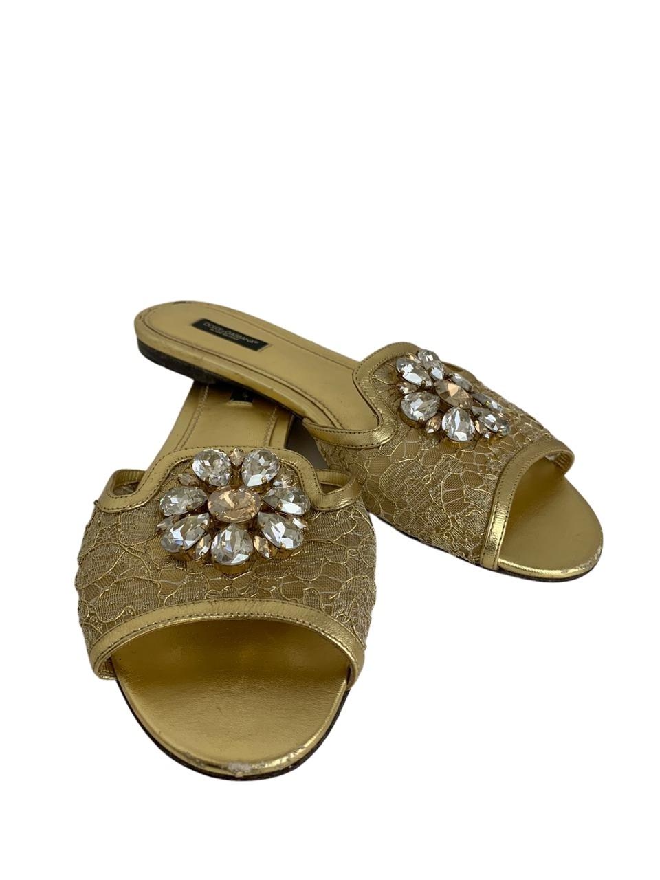 Rasteira Dolce & Gabbana Dourada