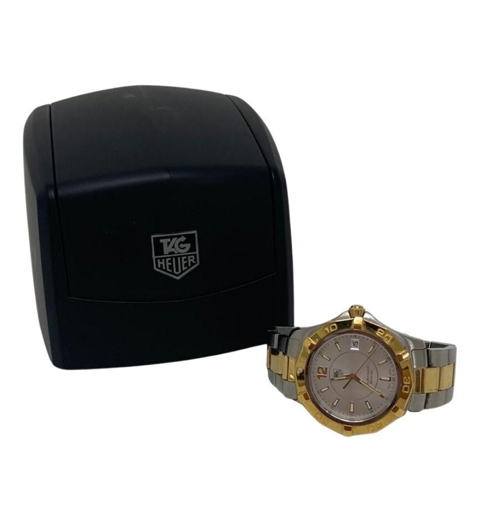 Relógio Tag Heuer Prata com Detalhes em Dourado