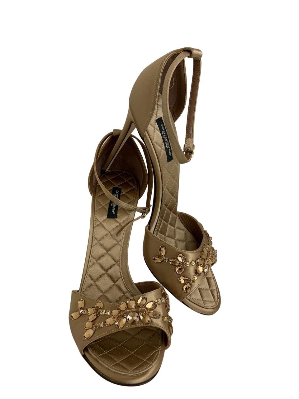 Sandália Dolce & Gabbana Dourada