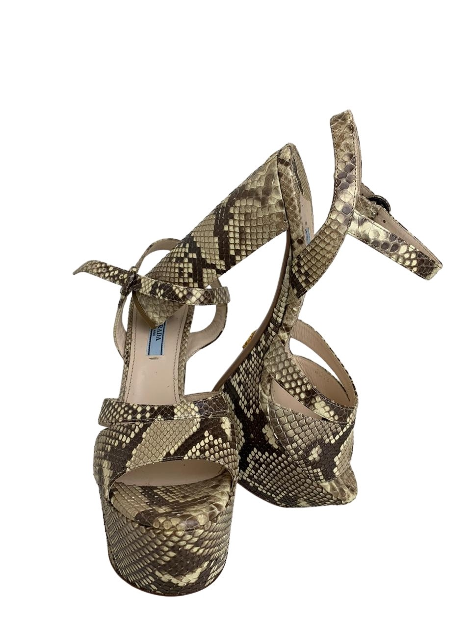 Sandália Prada Python