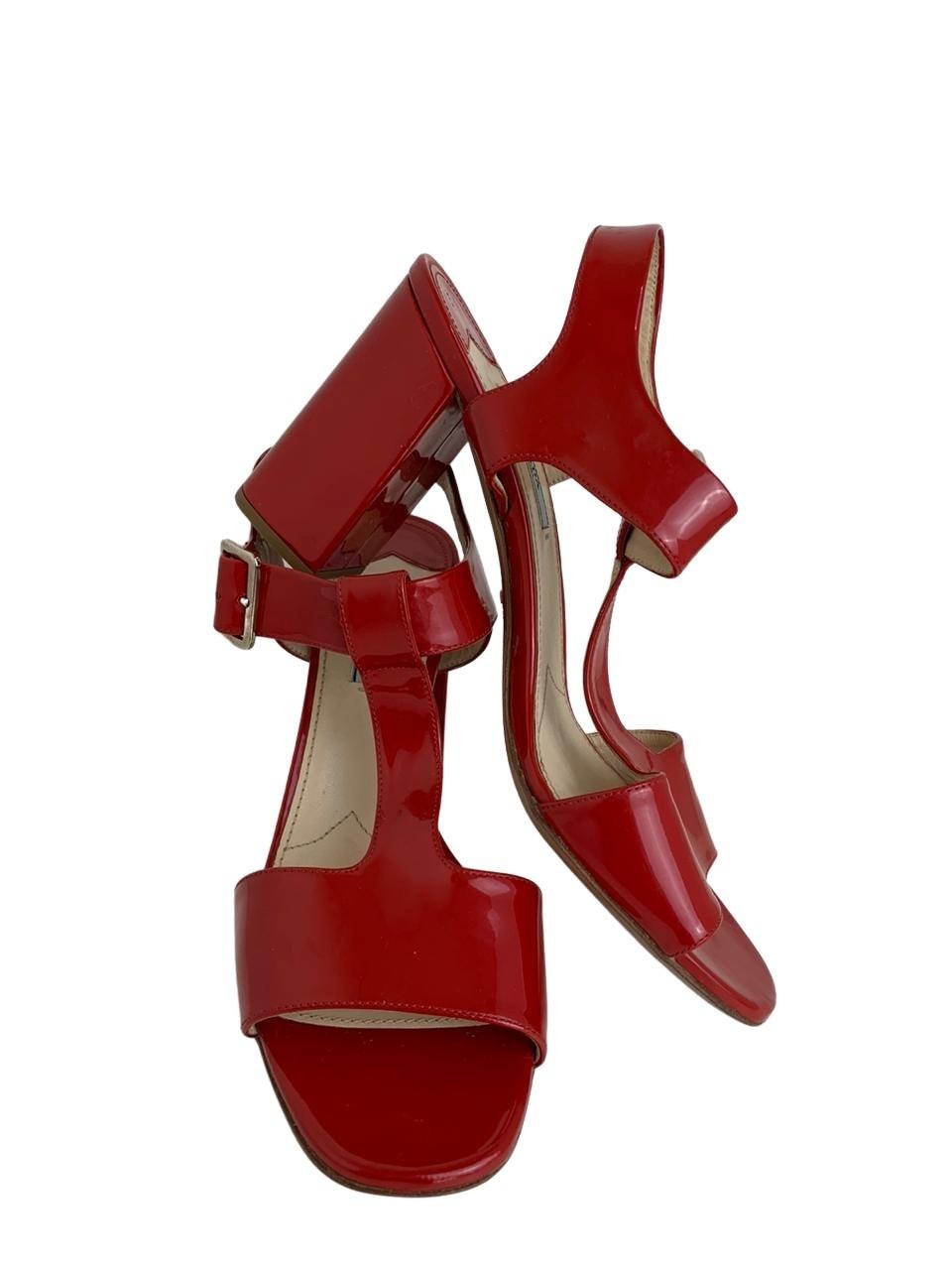 Sandália Prada Vermelha