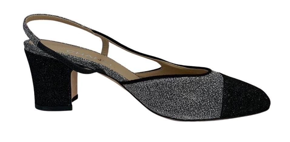 Sapato Chanel Cinza com Preto