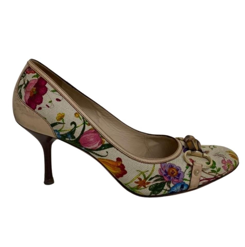 Sapato Gucci Flower Print
