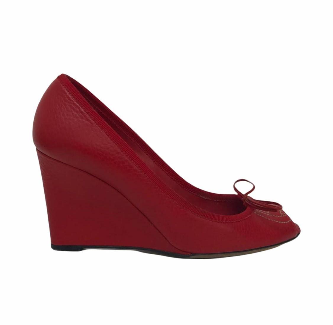 Sapato Gucci Plataforma Vermelho