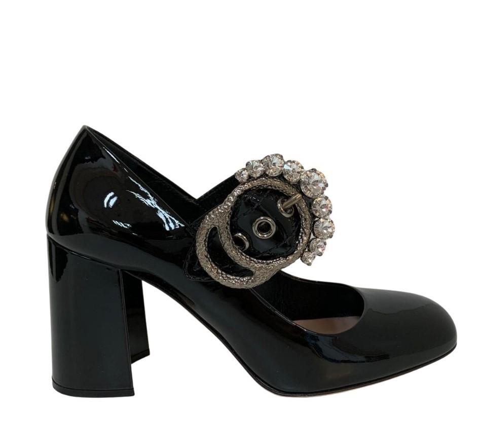 Sapato Miu Miu Preto Verniz