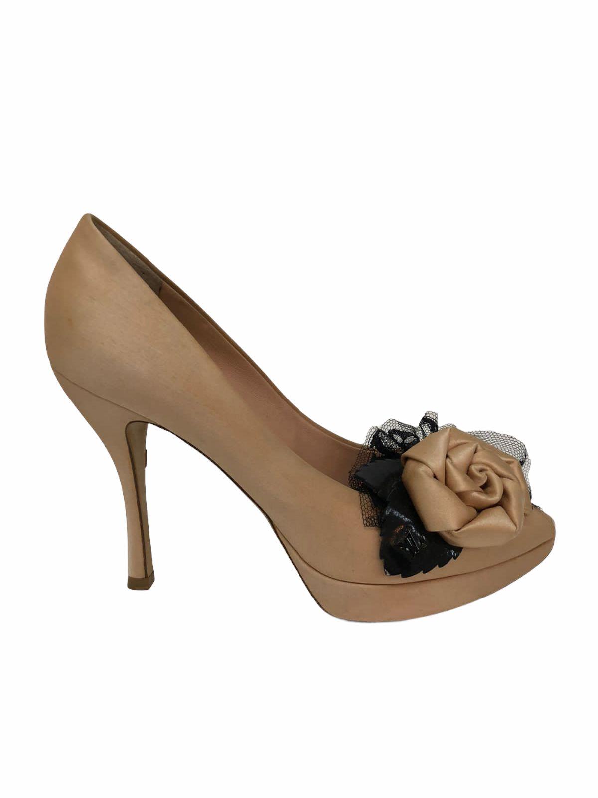 Sapato Peep Toe Louis Vuitton Bege
